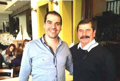 Nikos and Michalis * father & son, owners or Olympia I & II